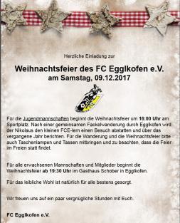 Einladung zur FCE Weihnachtsfeier