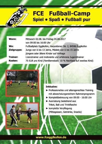 FC Egglkofen Fußball-Camp 2017